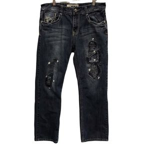 Liuce's men's ripped distressed jeans size 36/30